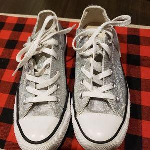 Converse, CTAS Silver Metallic Low Top